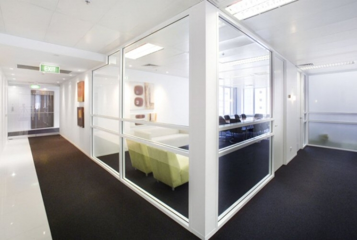 Law firm office fitout pitt st sydney glass partitions for Interior design agency sydney